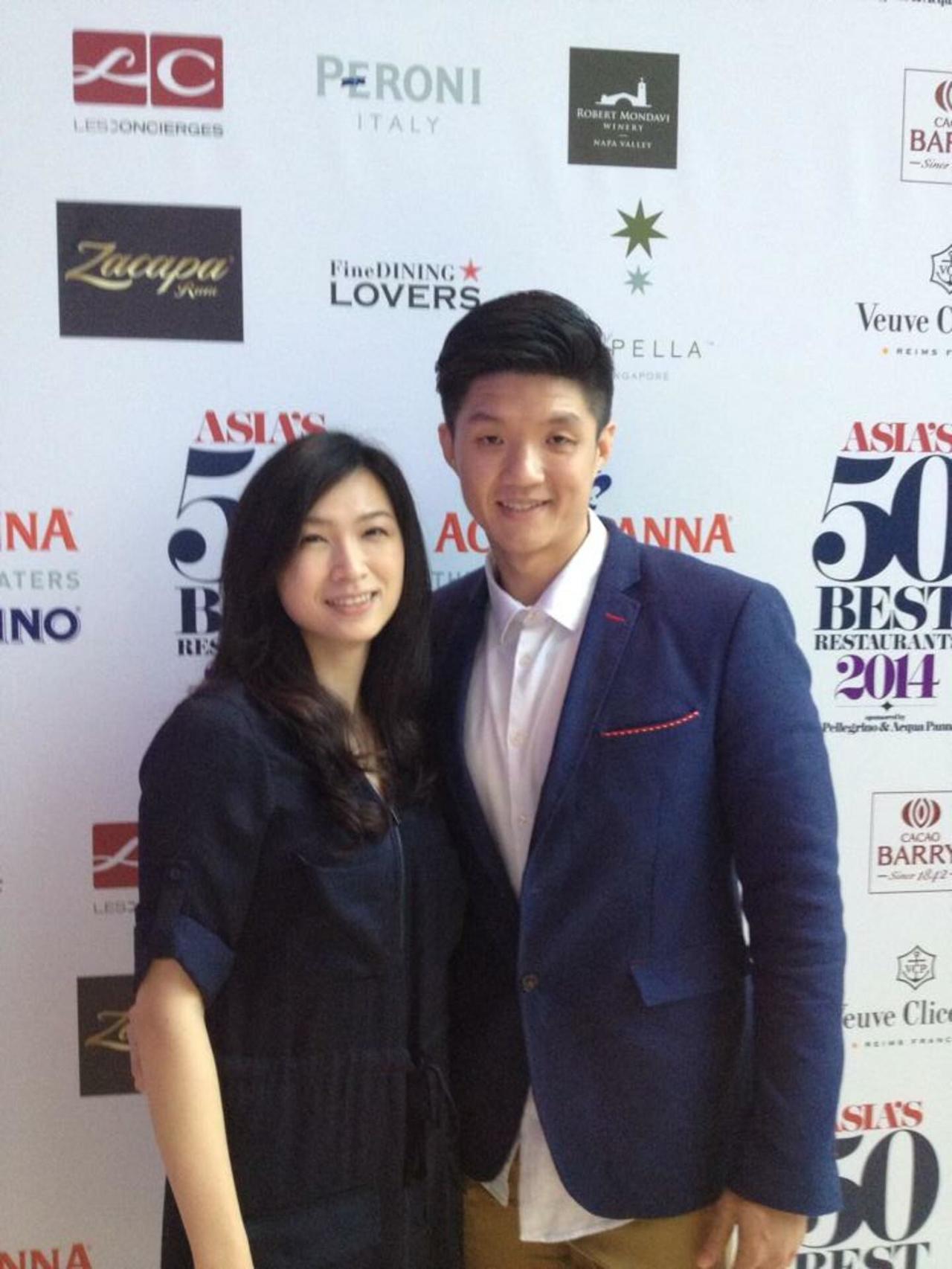 林恬耀感謝陳嵐舒(左)的賞識和指導。圖/林恬耀提供