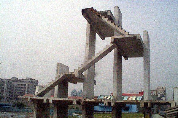 大同水上樂園舊有的滑水高塔。圖/聯合報系資料照