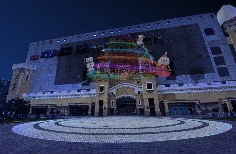 台茂購物中心耶誕光雕秀示意圖。圖/台茂購物中心提供