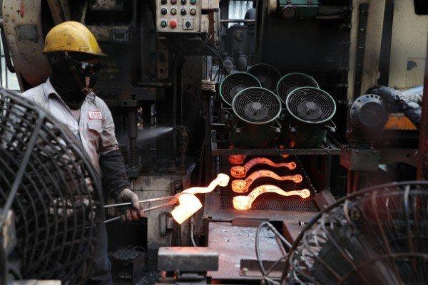 使用綠能鋼材減少碳排放的金鍛工業。記者許正宏/攝影