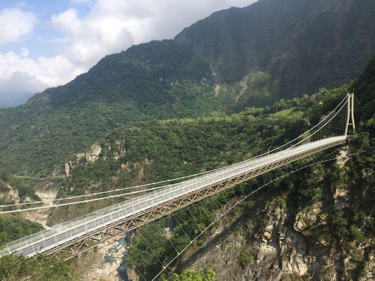 山月吊橋。圖擷自太魯閣國家公園官網