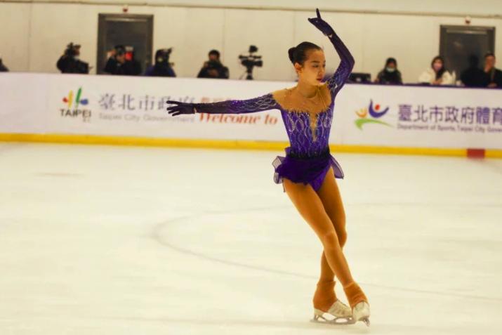 台灣「滑冰一姐」丁子涵。圖/臺北市青年盃滑冰錦標賽大會提供