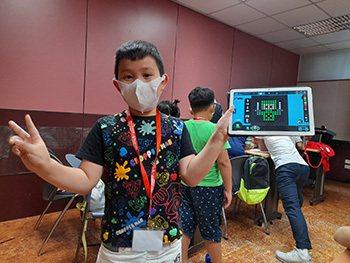 Bloxels以虛擬方塊設計遊戲。圖/中國文化大學推廣教育部