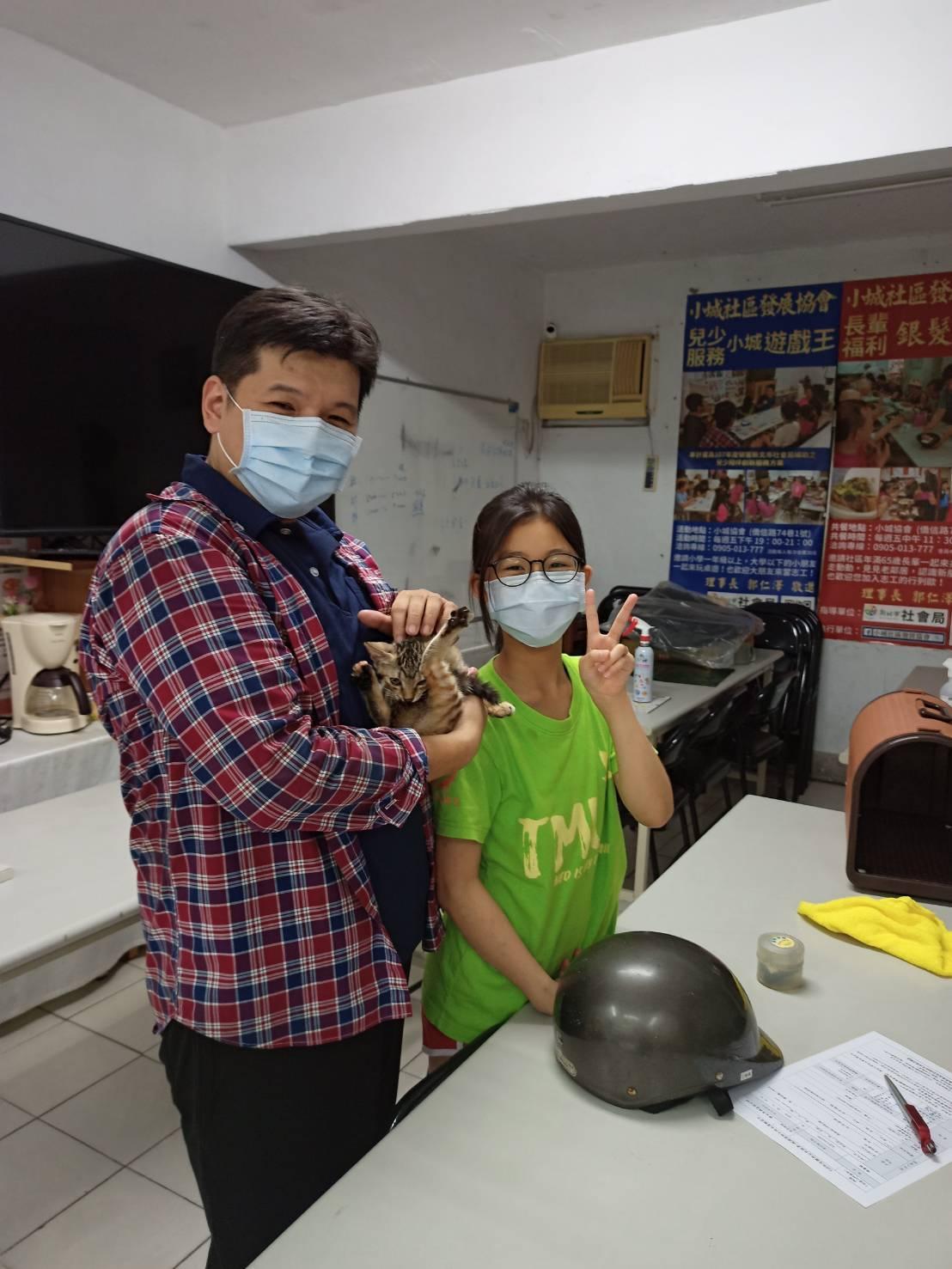 里長辦公室化身為街貓求救站(照片來源:郭仁澤提供)