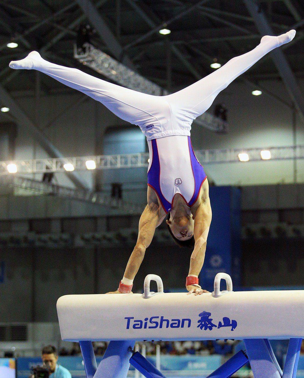 2017年世大運,李智凱拿下首面國際賽事鞍馬金牌。圖/聯合報系資料照