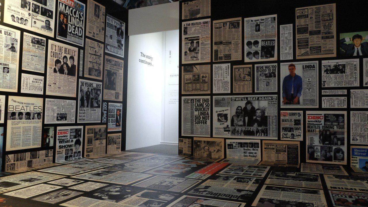 梁浩軒自辦Beatles展。圖/啟藝提供