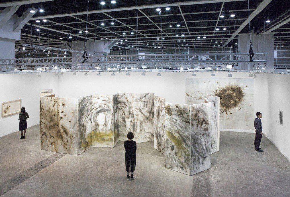 2017年在Art Basel HK的蔡國強個展。圖/誠品提供