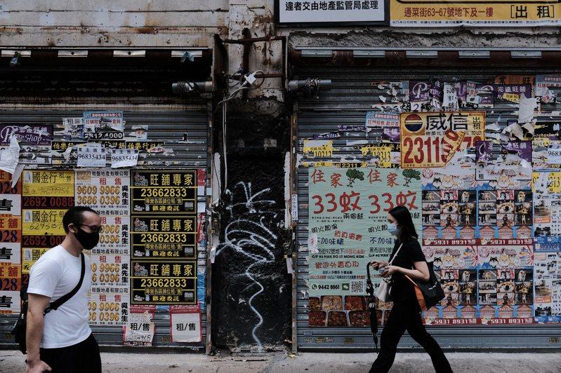 9月發出的接管或破產令、清盤令均創4年新高。圖為旺角區一帶吉舖。(中通社資料照片)