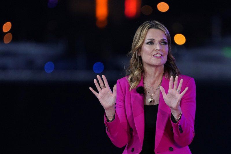 NBC電視台主持人賈斯禮在主持川普總統的里民大會時,表現搶眼,拉抬了收視率。(美聯社)