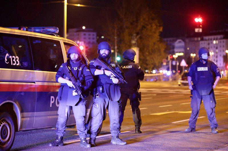 奧地利維也納發生恐怖攻擊,至少4死多傷。(路透)