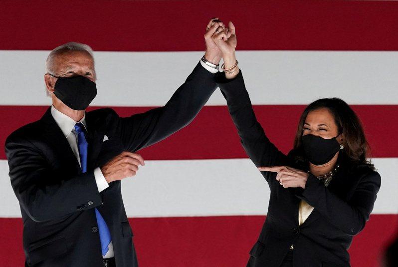 拜登和賀錦麗當選正副總統,兩人在性格上互補,讓民眾期待他們未來的合作。 路透