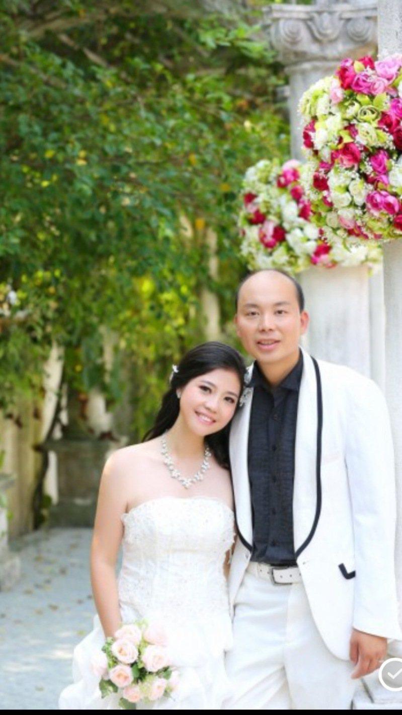 劉文健和陳佩霞的婚紗照。(陳佩霞提供)