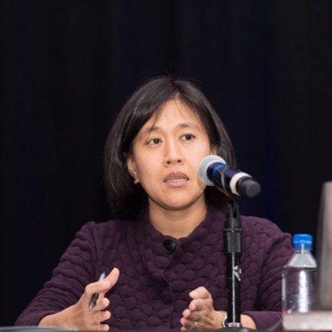 凱瑟琳·戴(Katherine Tai)很有希望成為白登政府的首任美國貿易代表。圖/取自美中貿易全國委員會官網