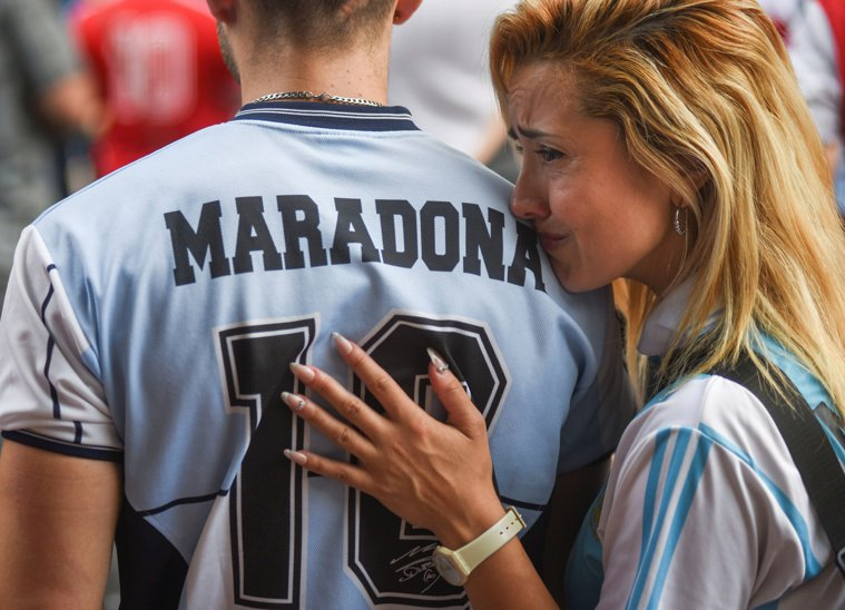 馬拉度納的死訊震撼阿根廷。(路透)