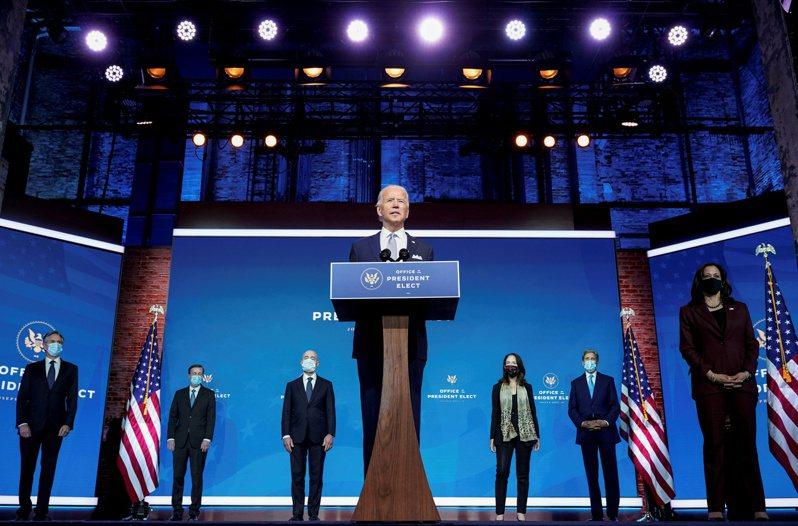 國家安全危機重重,候任總統拜登交接團隊敦促共和黨參議員加速確認國安官員。圖為去年11月24日拜登宣布他的國安團隊人選。(路透)