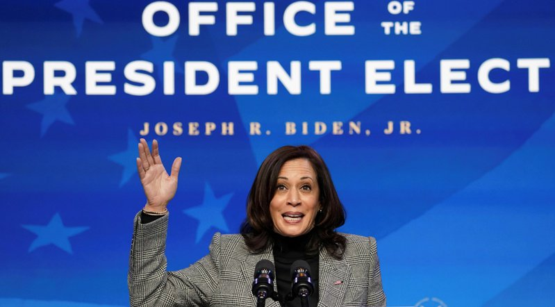 副總統當選人賀錦麗18日將辭去加州聯邦參議員職務,20日宣誓就職副總統。她17日受訪表示,未來將面對的不會是一份簡單的工作。(路透)
