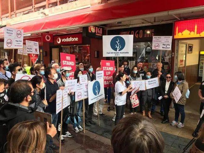 6日抗议现场。(取材自克牛新闻)(photo:UDN)