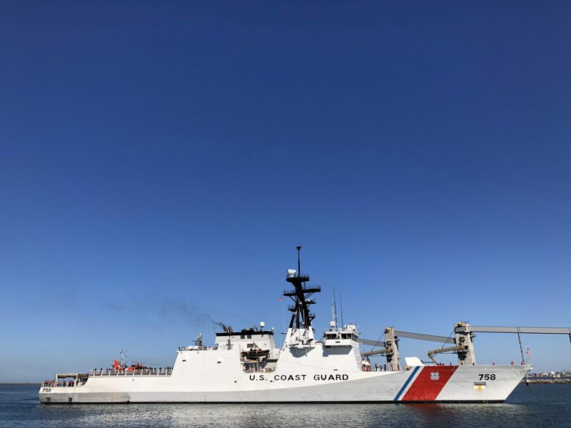 美國海岸防衛隊部署到帛琉(Palau)等太平洋島國,意在協助反制中國海軍在太平洋地區擴張力量。(歐新社)