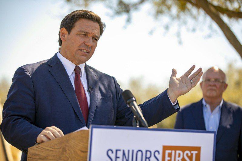 佛羅里達州長德桑提斯是共和黨內備受關注人物。(美聯社)