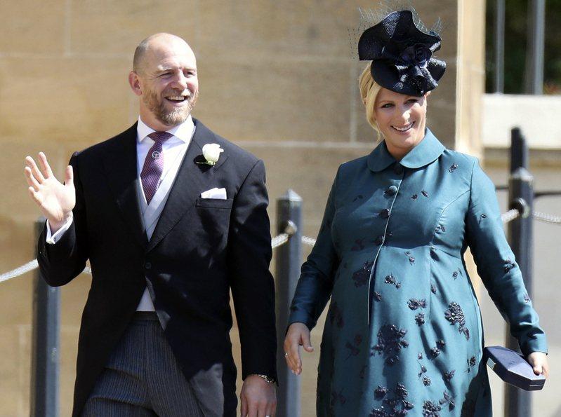 安妮公主的女兒扎拉·廷德爾生下了一個男寶寶,這是英國女王的第10個曾孫。(美聯社)