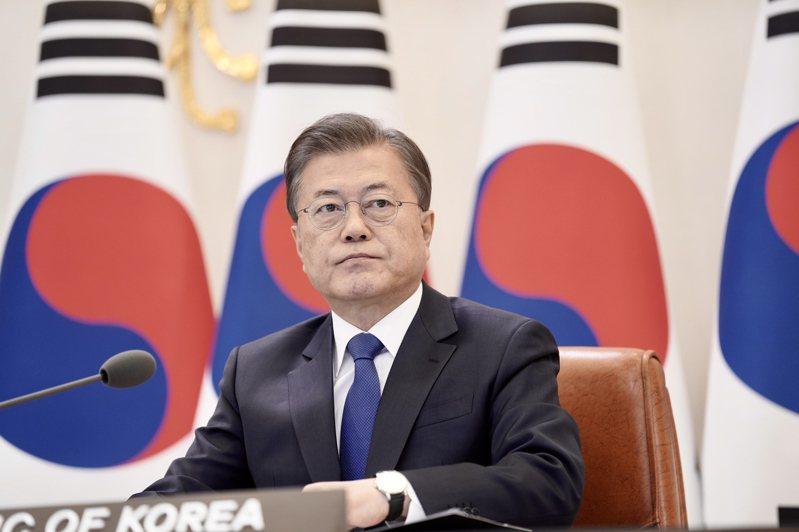南韓文在寅的執政黨,在市長補選中慘敗。(歐新社)