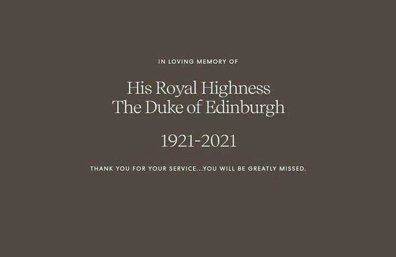 哈利王子與妻子梅根的Archewell基金會在官方網站,在深色背景寫下:「謝謝您的奉獻,我們會非常想念您。」聲明簡短。(取材自Archewell基金會官方網站)