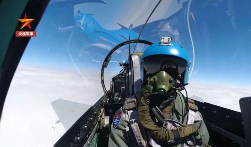 解放軍北部戰區部隊出動畫面。(取材自央視)