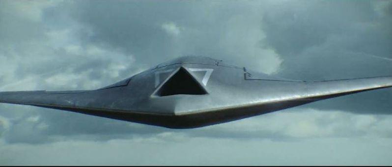 中國航空工業集團17日發布新的宣傳影片,曝光了一台神秘隱形戰機。(視頻截圖)