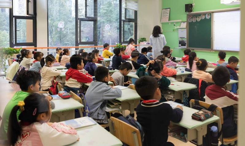 四川成都一間國際學校,學生幾乎都是中國人。(視覺中國圖)