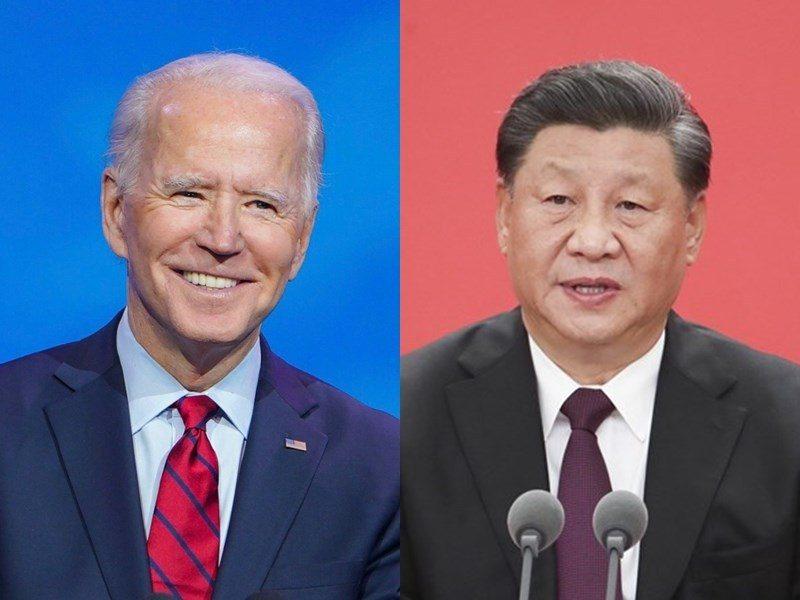 中國國家主席習近平(右)應拜登總統之邀,22日將在北京以視訊方式出席氣候變遷領袖峰會。(取自臉書、中新社)