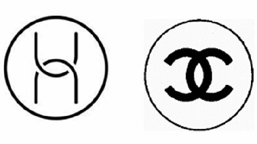 法國奢侈品香奈兒(右)控訴華為的電腦硬體商標(左)與其相似。(取材自每日經濟新聞)