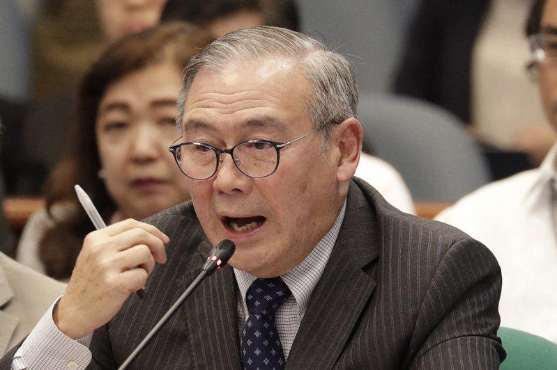 菲律賓外交部長陸辛。(美聯社)