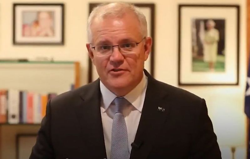 澳洲總理莫里森。取材自Scott Morrison Twitter