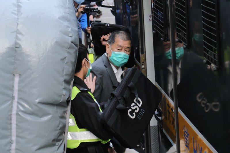 香港壹傳媒集團今天公告,黎智英「不得直接或間接行使其所持本公司(壹傳媒)任何股份的投票權」。圖為黎智英早前還柙期間的資料圖片。(中通社)