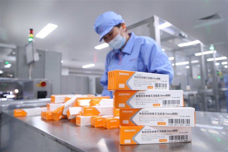 烏拉圭報告指出,科興疫苗接種兩周後減97%死亡病例。(中新社)