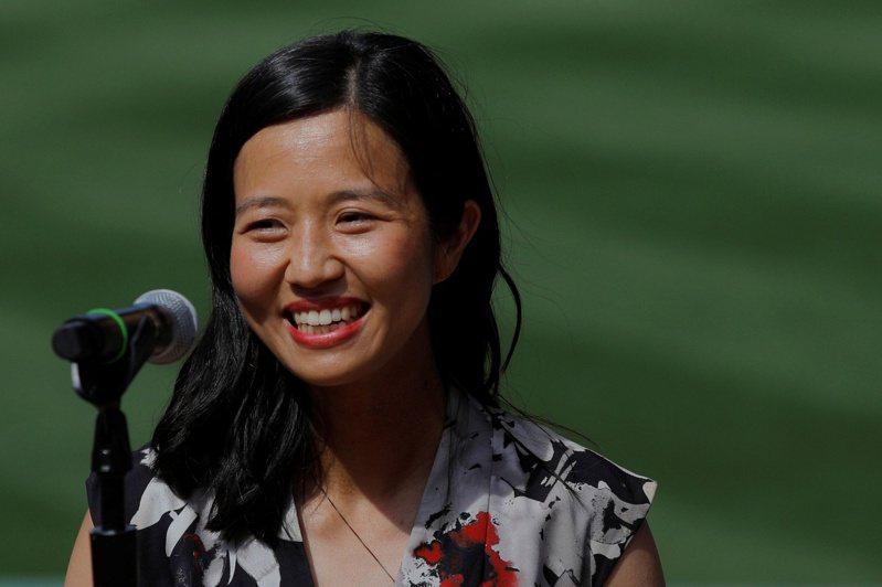 36岁的波士顿华裔市议员吴弭,竞选波士顿市长,目前民调领先。(路透)(photo:UDN)