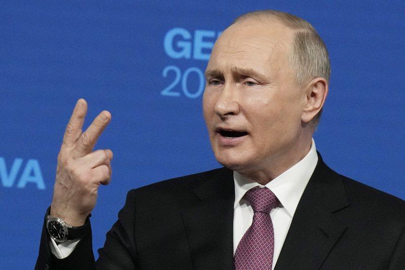 俄羅斯總統普亭16日在與拜登總統會談後舉行記者會表示,會談具建設性,兩國大使都將重返駐在國。(歐新社)