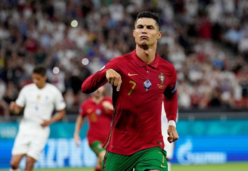C羅國家隊進球數追平伊朗前輩。路透