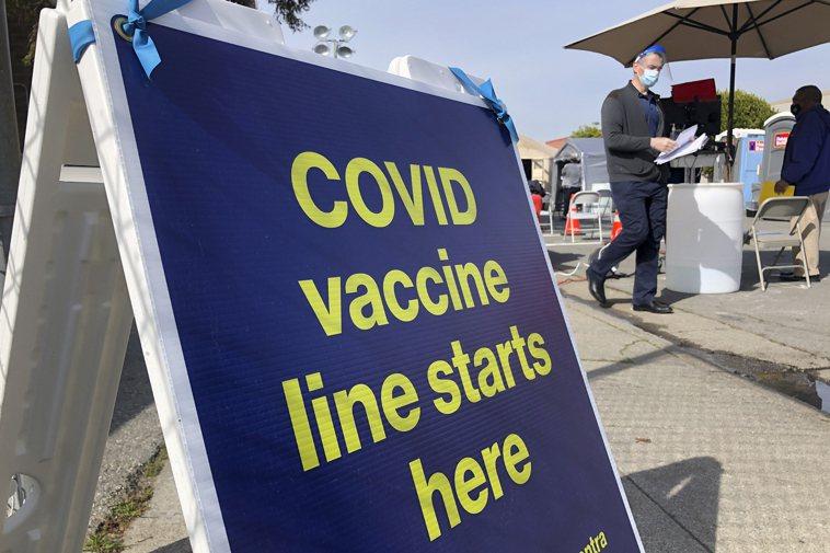 全美必須採取更積極的疫苗接種行動,否則一個月內會再爆發新一波疫情。圖為舊金山市的...
