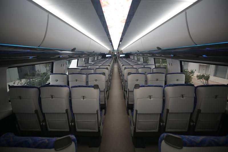 時速600公里高速磁浮交通系統的車廂內飾。 (中新社)