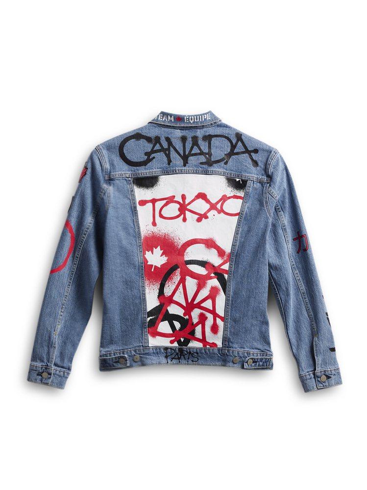 加拿大奧運代表隊的隊服是牛仔夾克,被批評太幼稚。(美聯社)