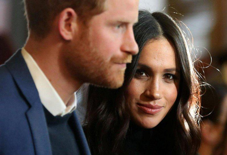 「時代雜誌」2021年百大最具影響力人物名單揭曉,英國哈利王子(左)與妻子梅根(右)入選。圖/路透資料照片