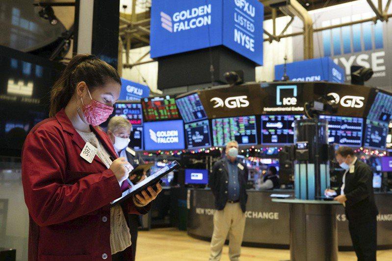 股市18日从波动交易的历史高点滑落。(美联社)(photo:UDN)
