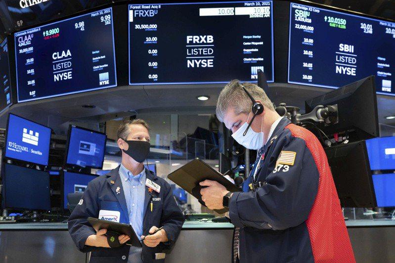 債券殖利率下降,讓道瓊工業平均指數飆升逾400點,創歷史新高。(美聯社)